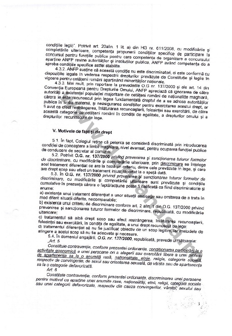 decizie CNCD limba maghiara secretar comuna valea crisului 3