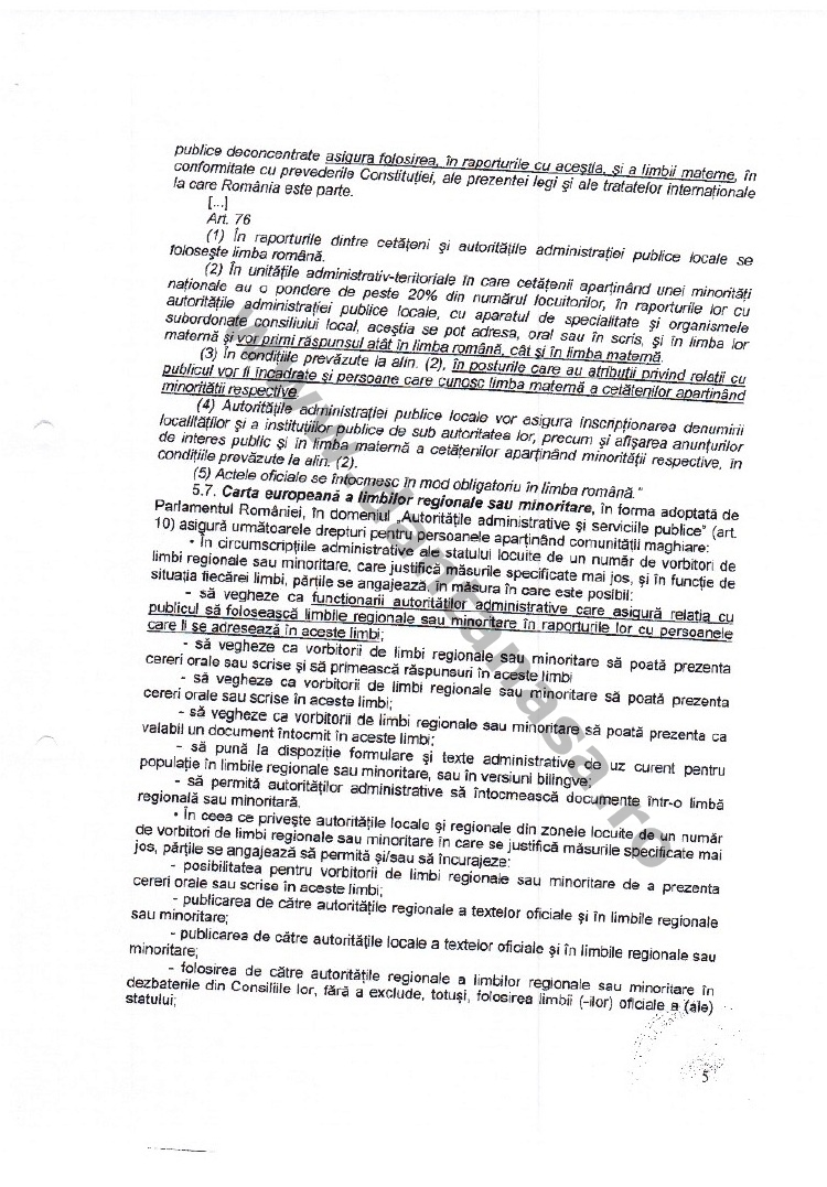decizie CNCD limba maghiara secretar comuna valea crisului 5