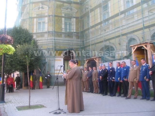 8 septembrie 2014, Sfântu Gheorghe. Ceremonia militară din fața Primăriei Sfântu Gheorghe la 70 de ani de la eliberarea orașului de sub ocupația hortystă.