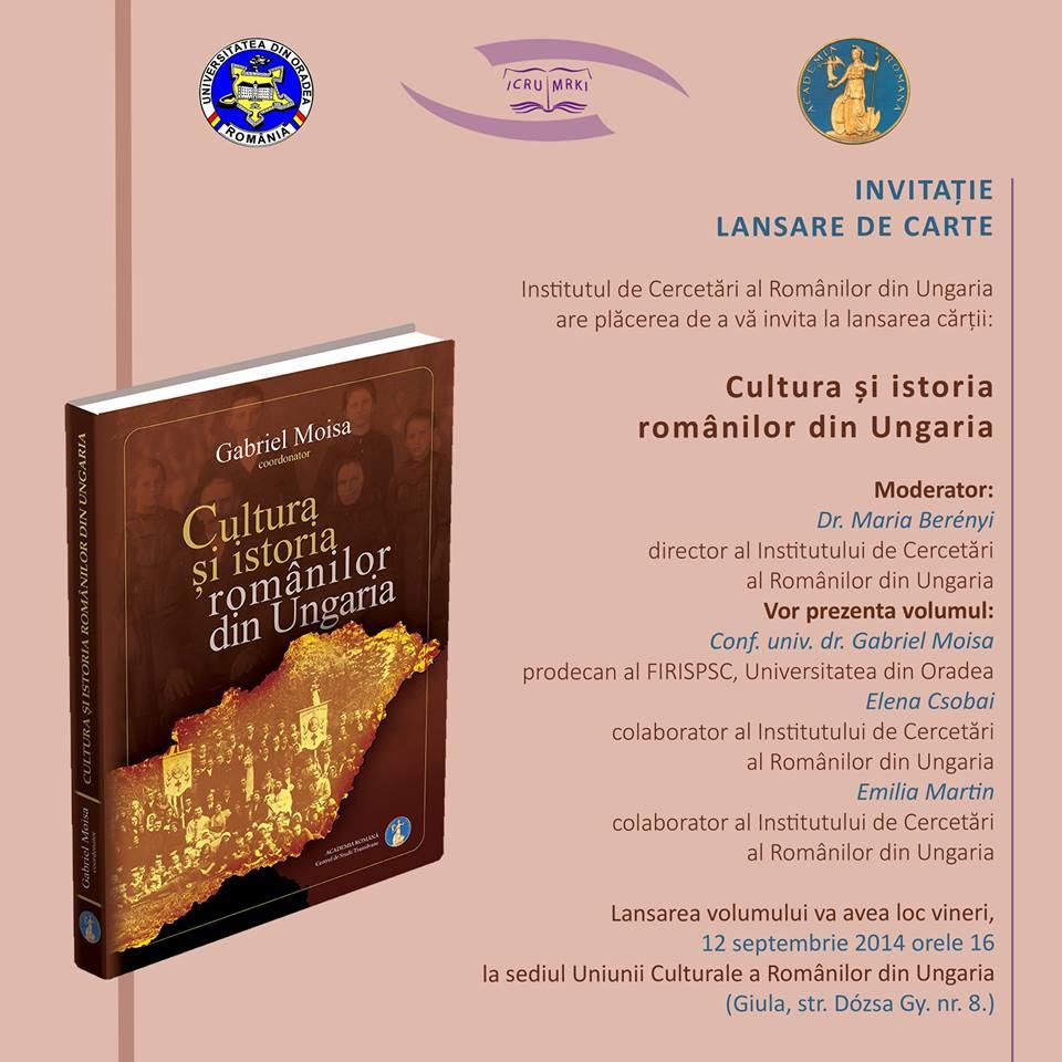 Cultura și istoria românilor din Ungaria