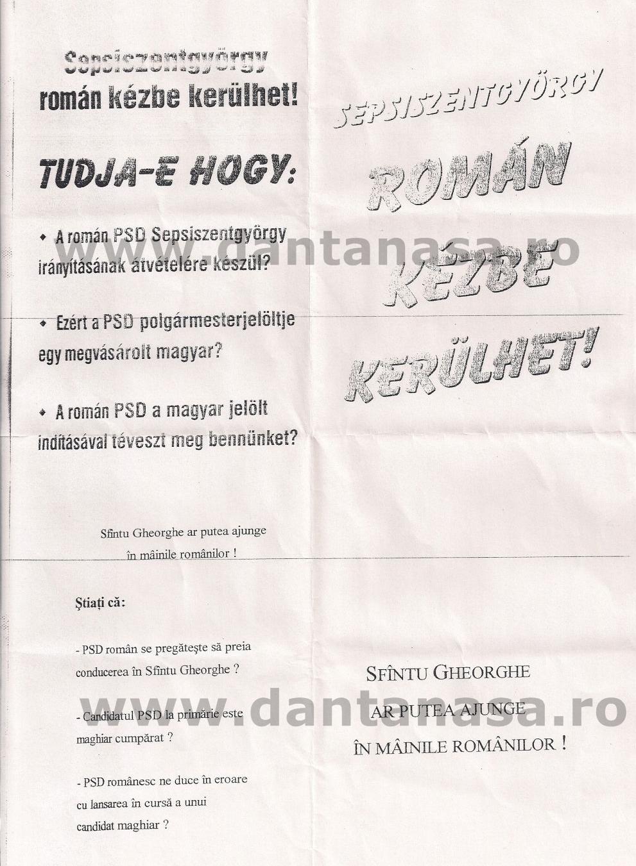 manifest sovin maghiar alegeri 2004 sfantu gheorghe albert almos Retyi Odon