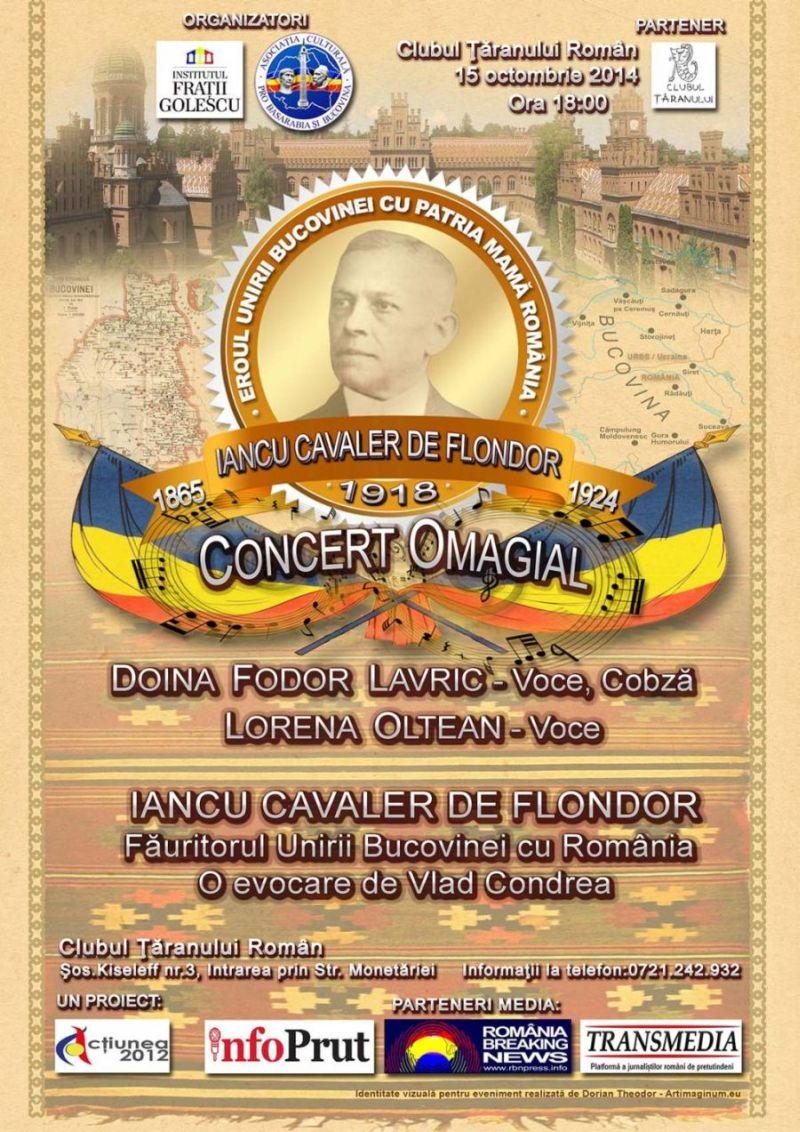 Concert Omagial Iancu Cavaler de Flondor Bucovina 2014