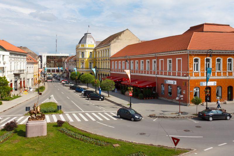 Centrul municipiului Sfântu Gheorghe (FOTO: Vargyasi Levente)