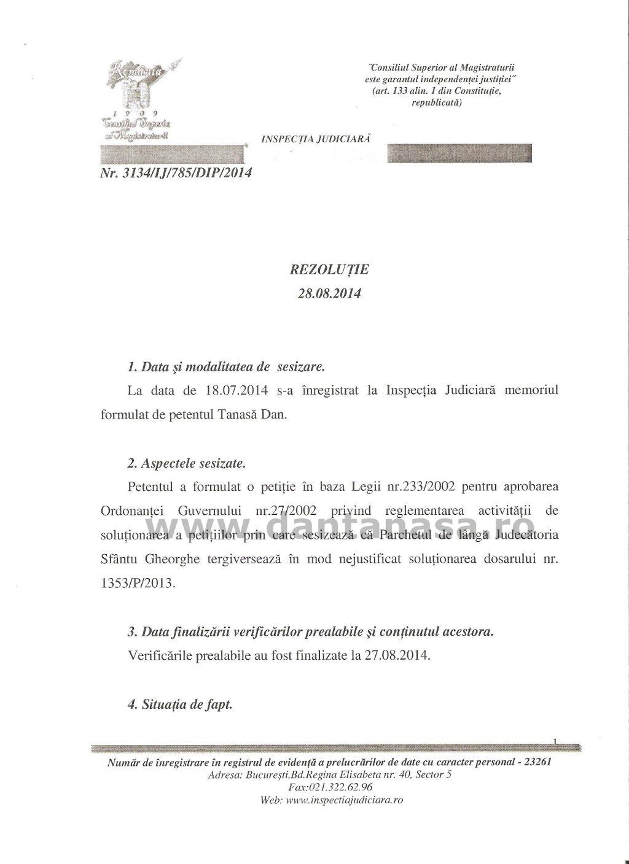 Inspectia Judiciara ofensa adusa insemnelor nationale maghiar Covasna 1