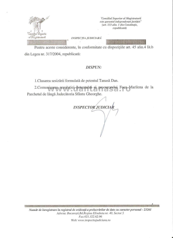 Inspectia Judiciara ofensa adusa insemnelor nationale maghiar Covasna 4