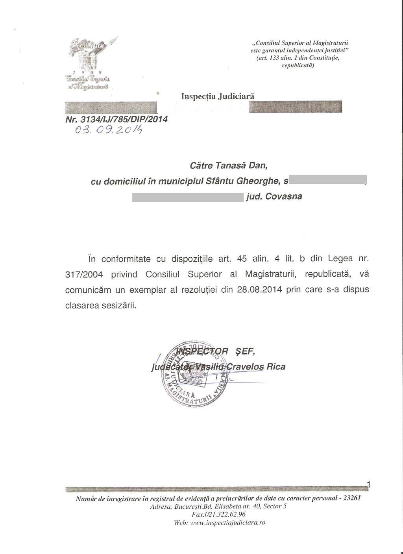 Inspectia Judiciara ofensa adusa insemnelor nationale maghiar Covasna