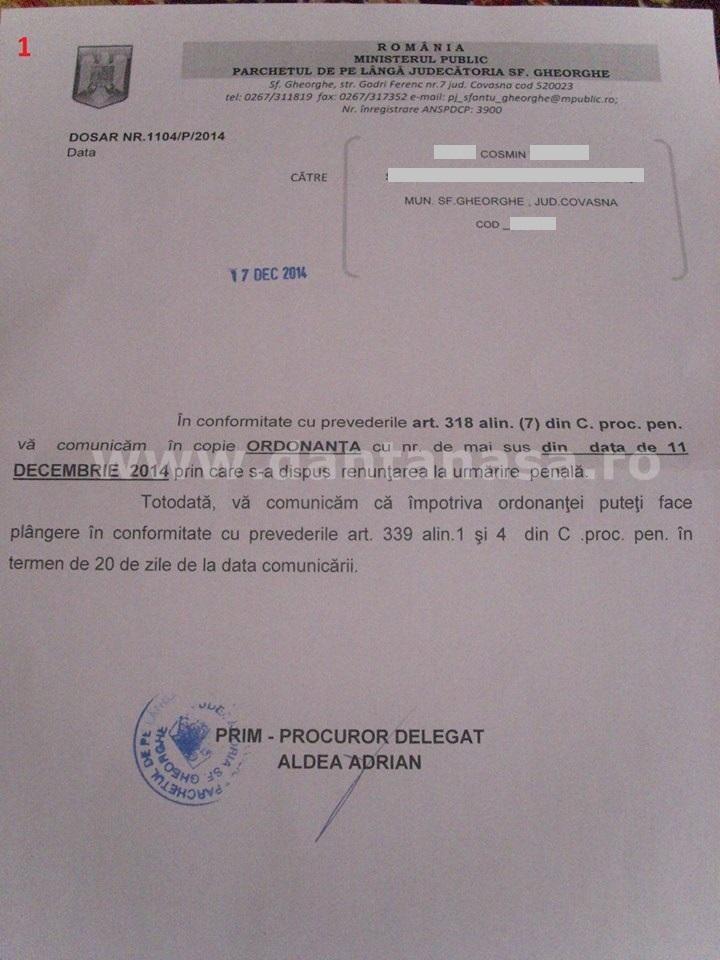 rezolutie parchet cosmin ameninari cu moartea maghiar 1