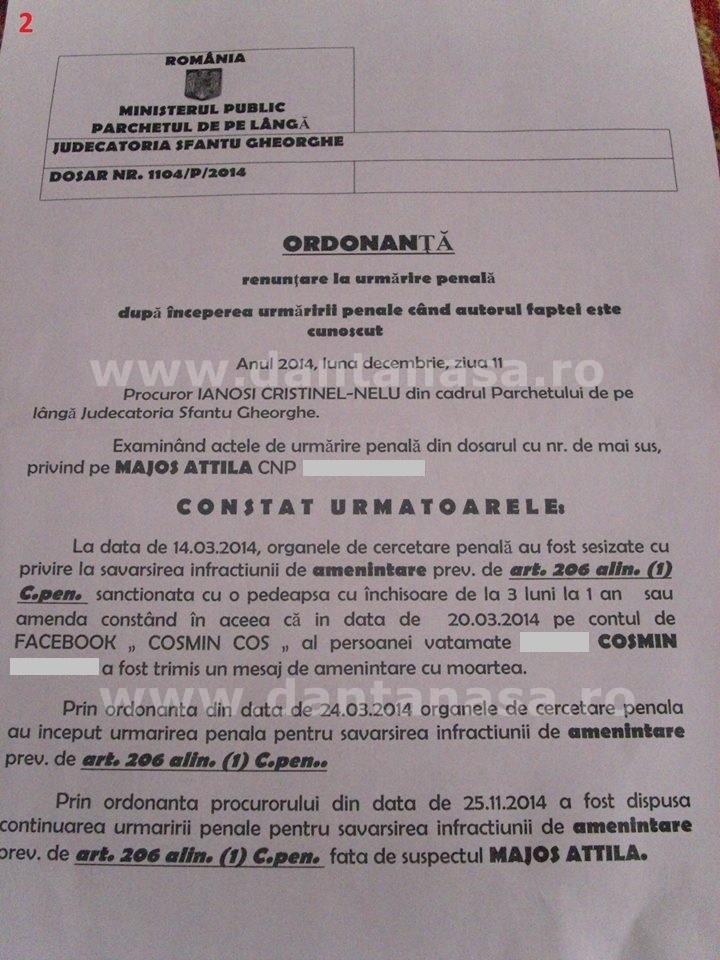 rezolutie parchet cosmin ameninari cu moartea maghiar 2