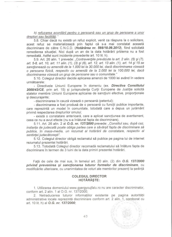 CNCD primar Gall Szabolcs  Joseni discriminare romani 4