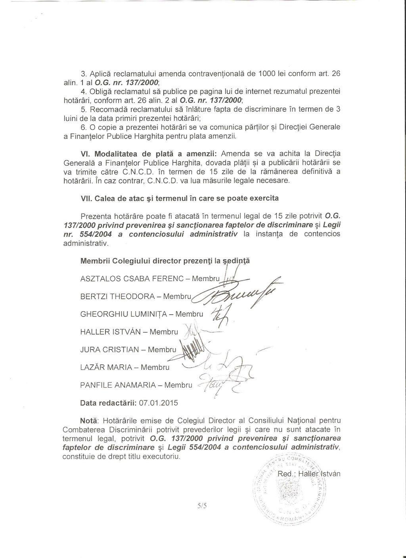 CNCD primar Gall Szabolcs Joseni discriminare romani 5