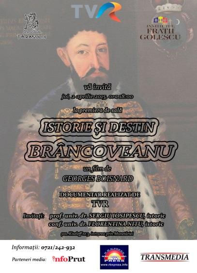 ISTORIE SI DESTIN BRANCOVEANU  TVR