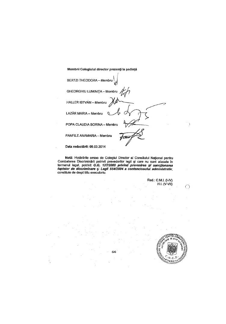 decizie CNCD ziar local siculeni UDMR discriminare romani dan tanasa 6