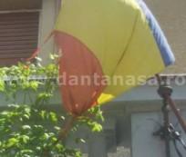 partidul national taranesc timis drapel Romania deteriorat timisoara detaliu