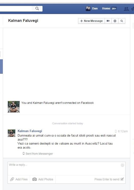 Kalman Faluvegi amenintare