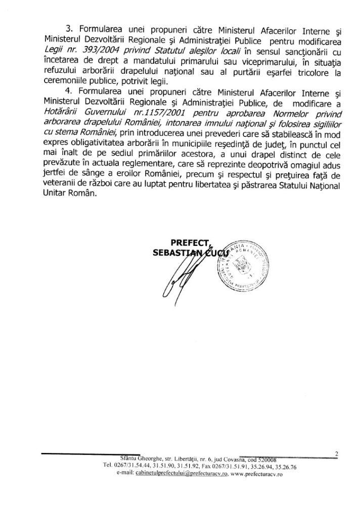 raspuns prefect covasna incident drapelul romaniei sfantu gheorghe 8 septembrie 2015 dan tanasa adec