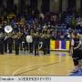 Dâmbovița Imnul național, intonat de o fanfară înaintea meciului de baschet feminin CSM Târgoviște U Cluj