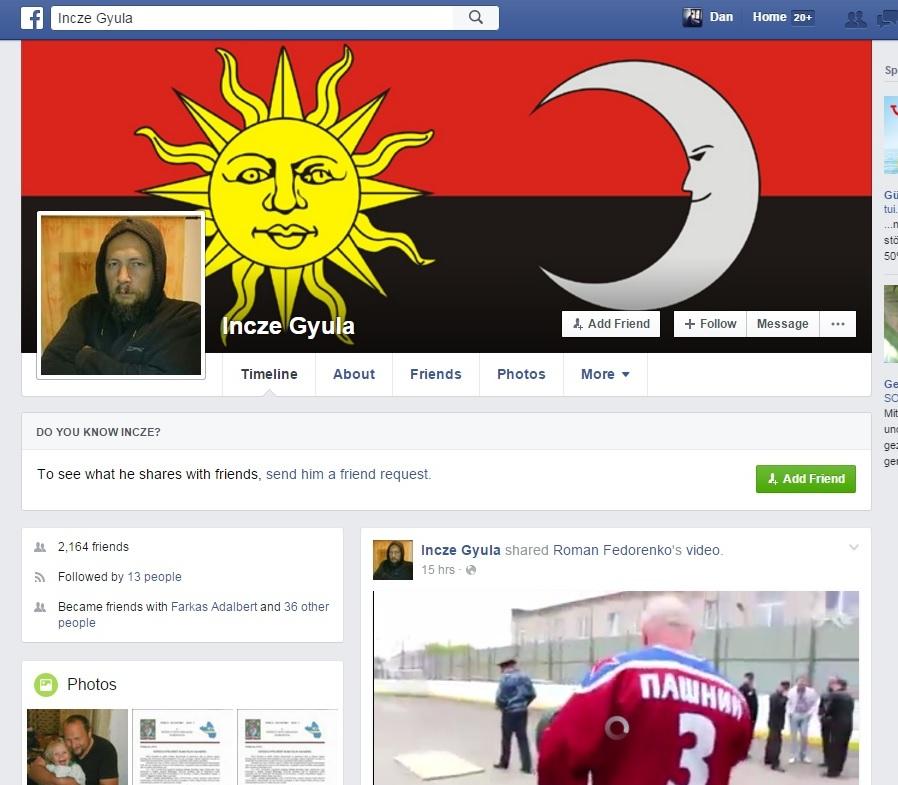 Incze Gyula facebook
