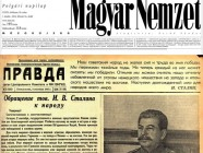 Magyar Nemzet Pravda Stalin Lukacs Csaba