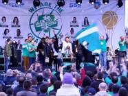 Sepsi SIC Sfântu Gheorghe campioana nationala baschet feminin eveniment 31 martie 2016 fara drapelul Romaniei