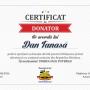certificat donator Dan Tanasa Unirea.tv